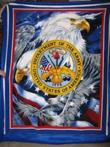 Hand-Crafted Army Seal W/Eagle Blanket in Fort Bragg, North Carolina