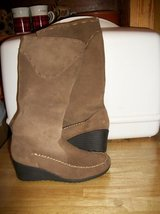 #8021 LADIES FAUX SUEDE BOOTS SIZE 6 NEW - $10 in Fort Hood, Texas