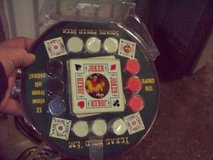 Poker Gaming chips, cards & carrying box set new in Westmont, Illinois